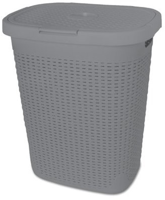 Superio Laundry Hamper Palm Luxe Collection 1.4 Bushel (Gray)