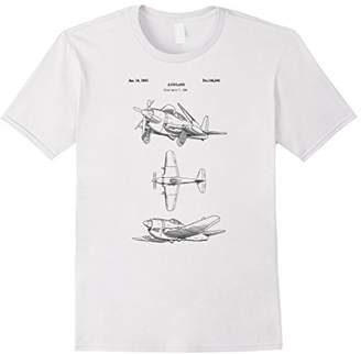 Vintage Airplane Shirt - Old Military Propeller Aircraft Tee