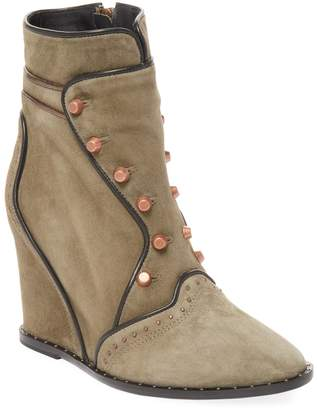 Ivy Kirzhner Women's Sovereign Studded Wedge Ankle Bootie