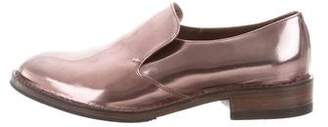Brunello Cucinelli Metallic Leather Loafers