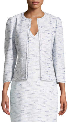 Kate Spade multi-tweed open-front jacket