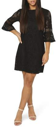 Dorothy Perkins Lace Flare Cuff Shift Dress