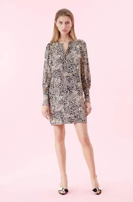 Rebecca Taylor Hidden Leopard Jacquard Dress