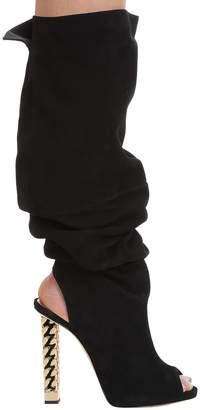 Giuseppe Zanotti Giuseppe For Rita Ora Black Suede Open Toe
