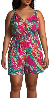 Spense Sleeveless Romper - Plus