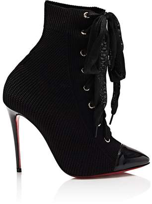 Christian Louboutin Women's Frenchie Knit Ankle Boots