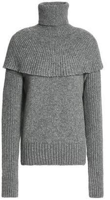 Agnona Layered Knitted Turtleneck Sweater