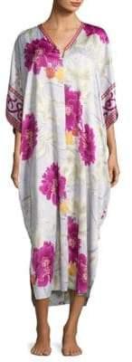 Natori Floral Printed Caftan