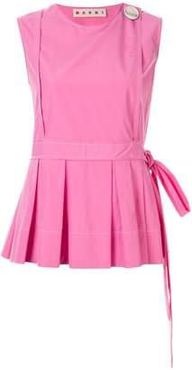 Marni sleeveless pleated blouse