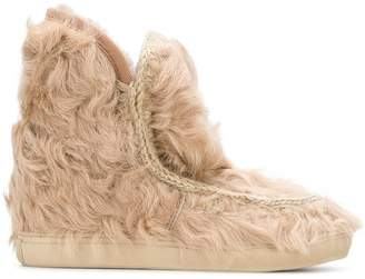 Mou Inner Wedge fur boots