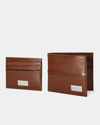 Ted Baker MUESE Leather wallet and cardholder gift set