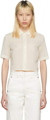 Off-White Moderne Portrait Cropped Shirt