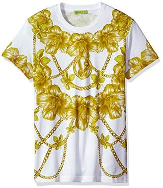 Versace Men's Gold Chain Print T-Shirt
