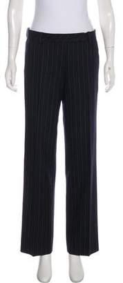 DKNY Wool Mid-Rise Wide-Leg Pants