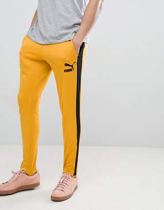 Puma T7 Vintage Joggers In Yellow 57498748