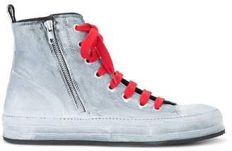 Ann Demeulemeester painted hi-top sneakers