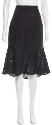 Rebecca Vallance Embroidered Midi Skirt