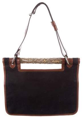 Dries Van Noten Leather-Trimmed Shoulder Bag