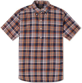 Beams Short Sleeve Popover Madras Check Shirt