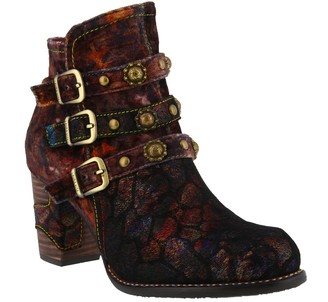 Spring Step L'Artiste by Leather and Velvet Booties - Nakisha