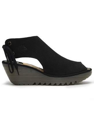 c4e0b04af69 Fly London Black Wedges Shoes - ShopStyle UK