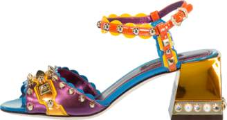 Dolce & Gabbana Multi Metallic Studded Sandal