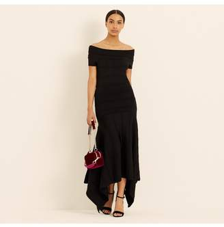 Amanda Wakeley Black Knitted Viscose Midi Dress