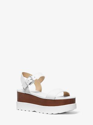 Michael Kors Marlon Leather Flatform Sandal