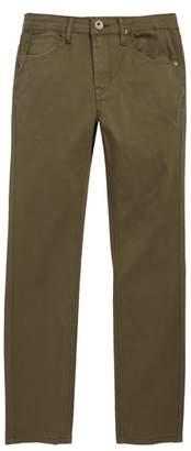 Hudson Slim Straight Leg Twill Pants