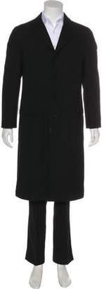 Giorgio Armani Notch-Lapel Overcoat