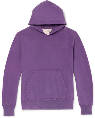 Remi Relief Cropped Loopback Cotton-Jersey Hoodie