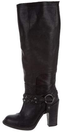 Vera Wang Stud-Embellished Knee-High Boots