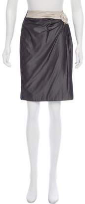 Max Mara Gathered Satin Skirt