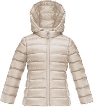 Moncler Iraida Hooded Lightweight Down Puffer Jacket, Size 8-14