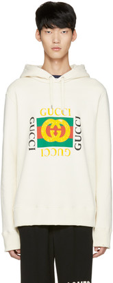 Gucci Off-White Felted Hoodie $1,200 thestylecure.com