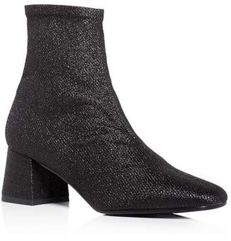 Aska Gia Stretch Glitter Mid Heel Booties