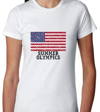 Hollywood Thread USA Summer Olympics - Rio - Flag Women's Cotton T-Shirt