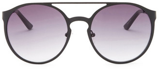 Kenneth Cole Reaction Women&s Metal Round Aviator Sunglasses $50 thestylecure.com
