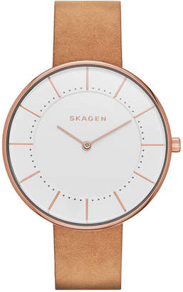 Skagen Women's Brown Leather Strap Watch 38mm SKW2558 $105 thestylecure.com