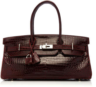 Hermes Vintage by Heritage Auctions 42cm Shiny Bordeaux Porosus Crocodile  JPG Shoulder Birkin b321ef178