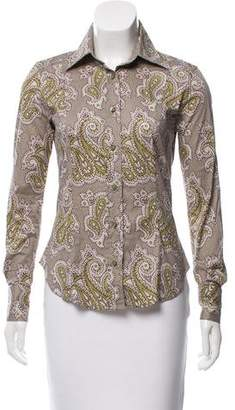 Etro Printed Long Sleeve Button-Up