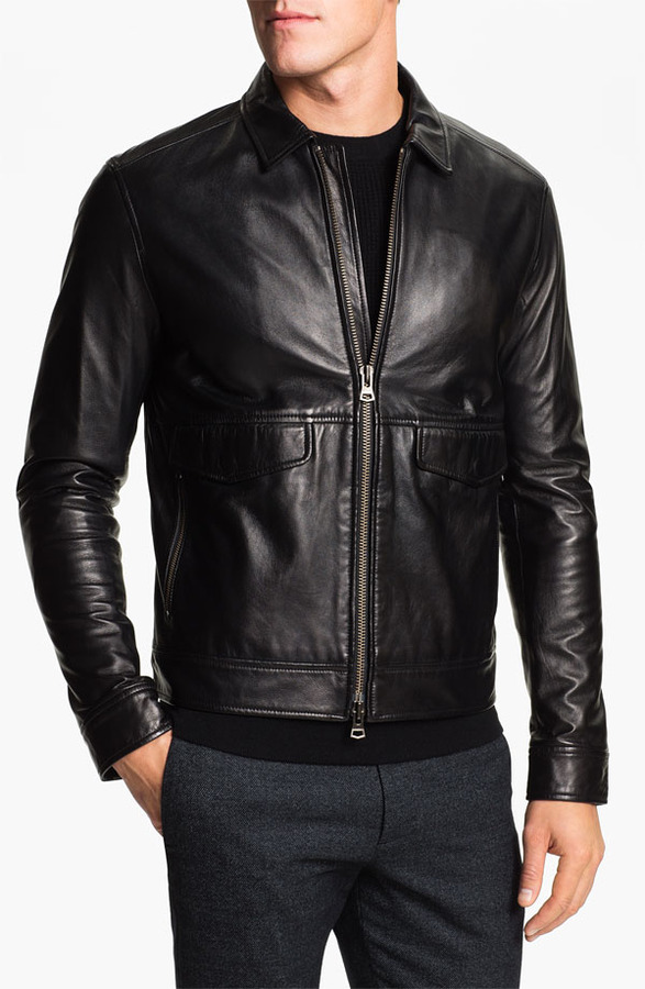 Theory 'Trystan' Leather Jacket