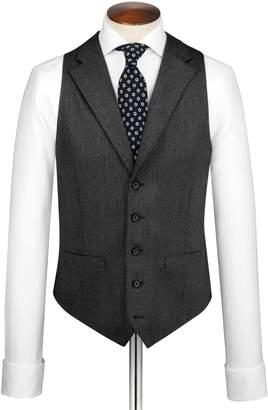 Grey Saxony Business Suit Wool Vest Size w36 by Charles Tyrwhitt