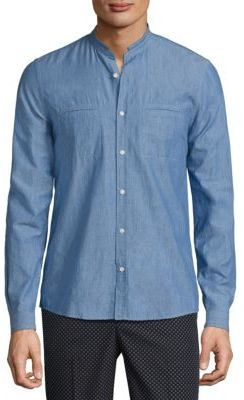 The Kooples Long Sleeve Cotton Shirt $230 thestylecure.com