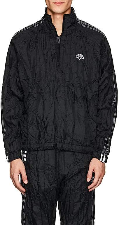 adidas Originals by Alexander Wang Men's Crinkled Tech-Fabric Pullover Jacket