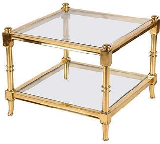 One Kings Lane Vintage Maison Jansen-Style Brass Side Table - Negrel Antiques