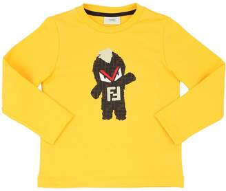 Fendi Monster Print Cotton Sweatshirt