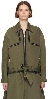 J.W.Anderson Green Two-Way Zipper Jacket
