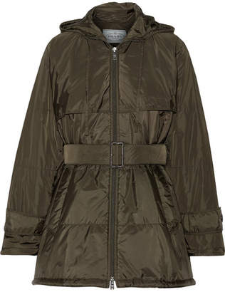 Prada - Hooded Quilted Shell Jacket - Army green
