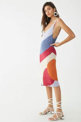 Forever 21 Colorblock Midi Dress